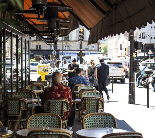 France: Take time on the busy streets of Paris to relax and people watch. More Info