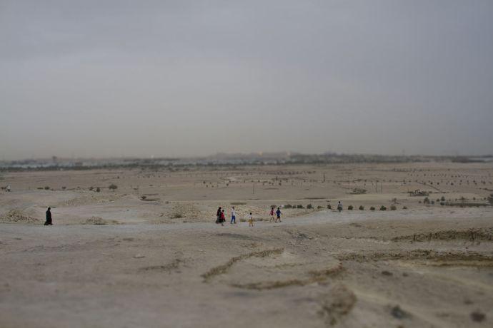 Arabian Peninsula: Families enjoy the desert landscape in the Arabian Peninsula.  Photo by Kathryn Berry More Info