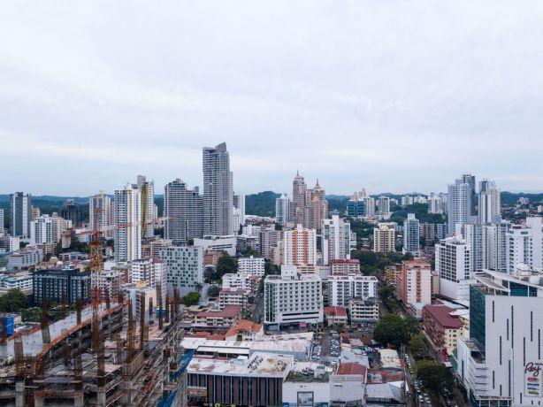 Panama: Balboa, Panama :: An aerial view of Panama City. More Info