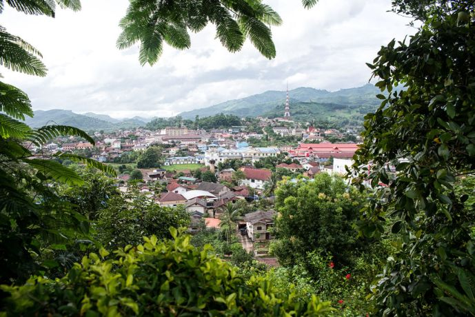Laos: View of Muang Xai, capital of the Oudomxay Province. More Info