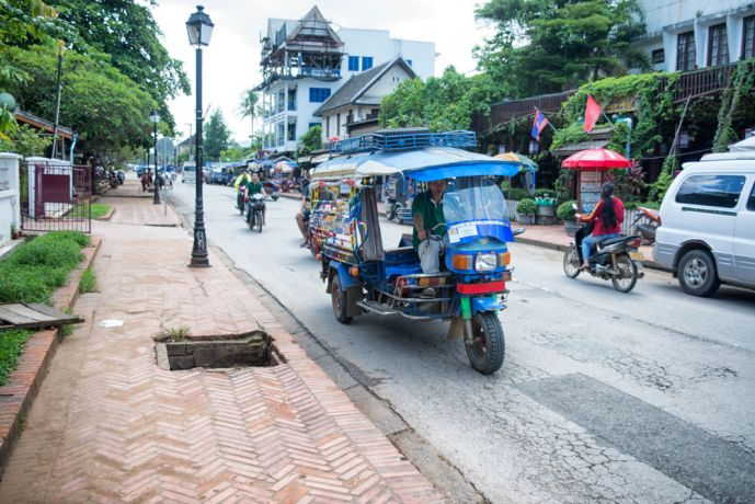 Laos: A booming transportation business in tourist areas. More Info