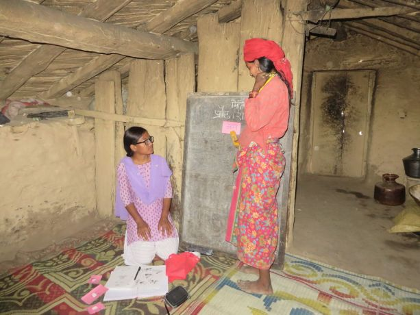 South Asia: An OM worker leads a literacy class for local women who cant read and write, empowering them to improve on skills they missed out on as children. More Info