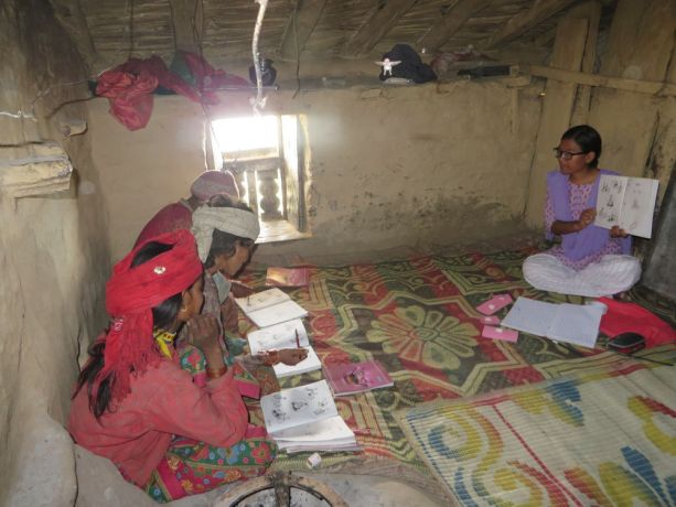 South Asia: OM workers lead a literacy class for local women in South Asia who cant read or write, empowering them to develop the skills that they missed out on as children. More Info