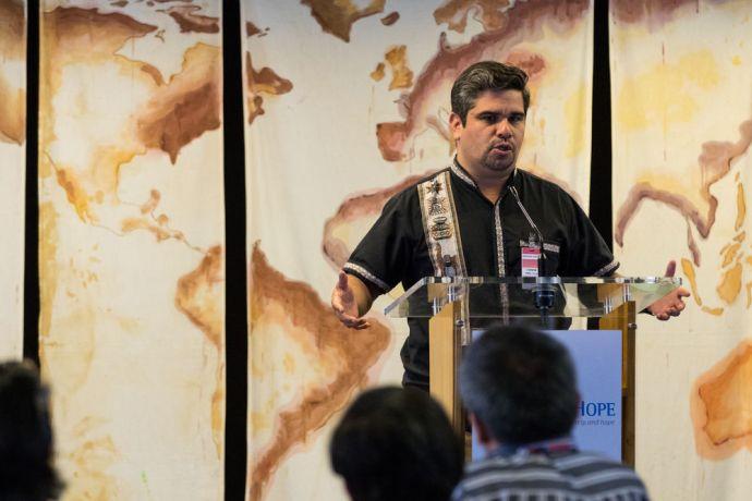 Panama: Balboa, Panama :: Cristian Castro speaks at the COMIBAM conference on board Logos Hope. More Info