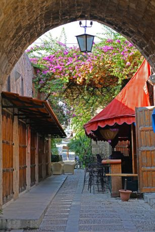 Near East: Stone street of historic village welcomes visitors.  Photo by Julie Coleman More Info
