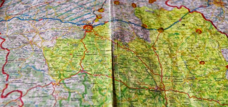 France: A map of France with routes marked. More Info