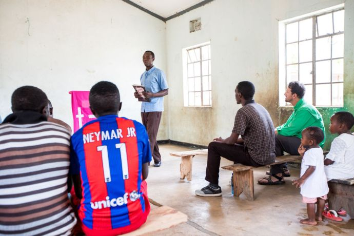 Tanzania: A church service in a Tanzanian village. More Info