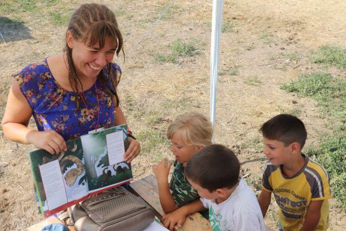 Ukraine: Bible lessons for the littlest ones at camp LELA evangelism camp for orphans, Odessa Ukraine More Info