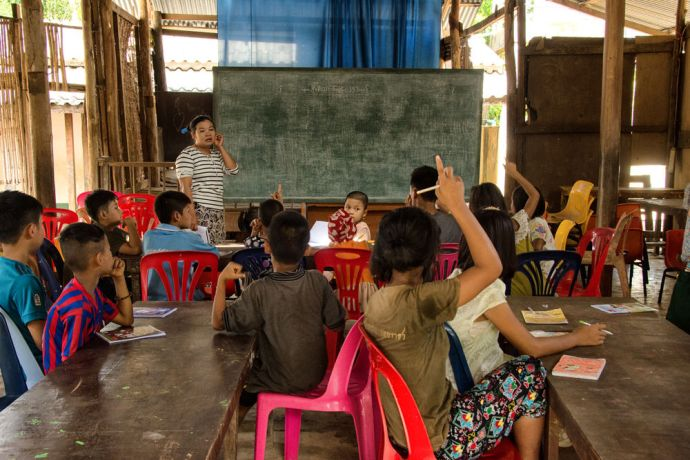 Thailand: Children in an optional weekend bible study at the School of Mercy, operated by OM MTI, for 130 internally displaced Mon and Karen children in a village at the Thailand-Myanmar Border. More Info