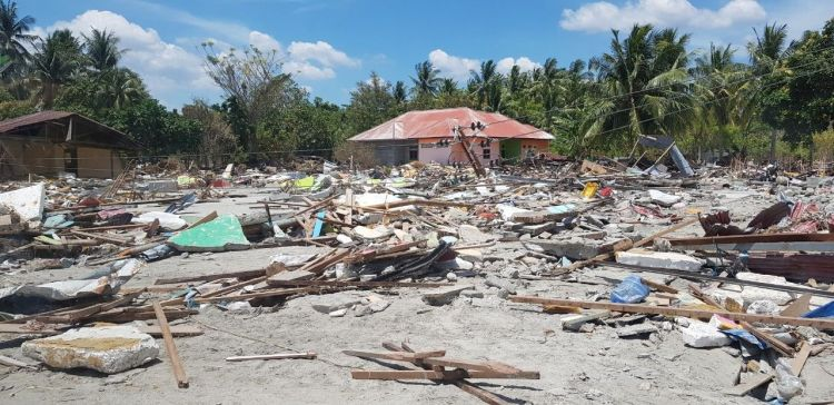 Indonesia: result of the tsunami in Sulawesi, Indonesia. More Info
