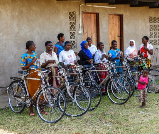 Malawi: Self-Help Group participants live scattered over a broad area. New bicycles will help facilitators maintain easier contact with their group members. More Info