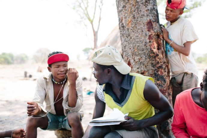 Angola: OM Angola discipleship trainee Adriano learns bushmen languages. More Info