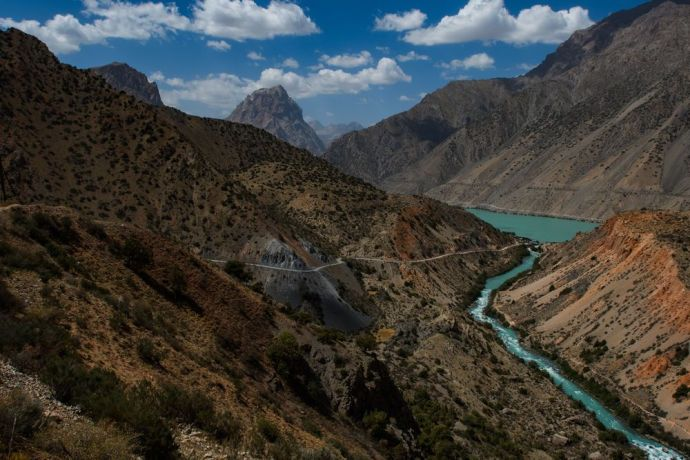 Central Asia: The rugged and beautiful landscape of Central Asia.  Photo by Garrett N More Info