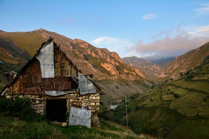 Kosovo: View of a valley at sunset in Kosovo.  Photo by Garrett N More Info
