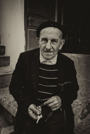 Kosovo: Portrait of an elderly man in a Dragash village in Kosovo.  Photo by Garrett N More Info