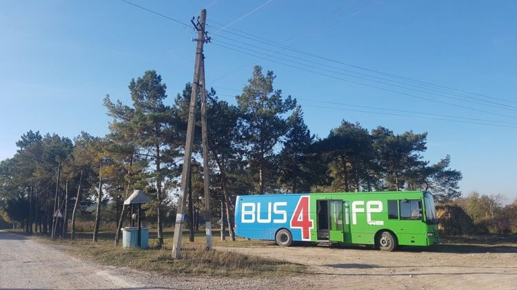 Moldova: Bus4Life is ready for another day of ministry. More Info