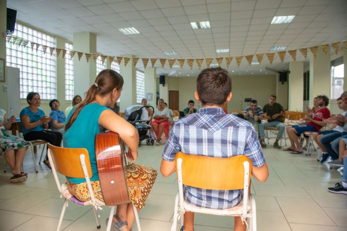 Albania: Through mercy ministries, special needs individuals and their families are able to worship and do crafts with local workers on a weekly basis.  Photo by Garrett N More Info