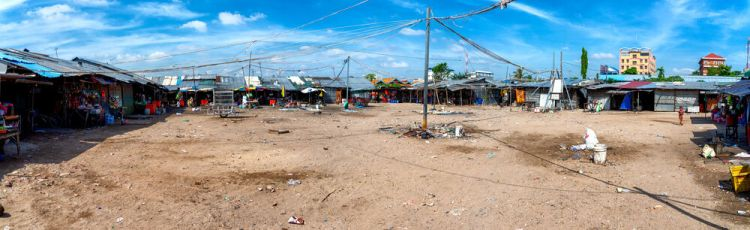 Cambodia: A mostly empty marketplace as the government continues to move the poor from place to place. More Info