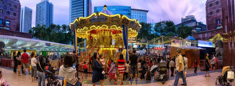 Singapore: A small Christmas fair held outside a mall in Singapore. More Info