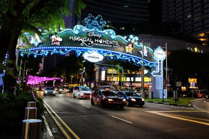 Singapore: Many of the Winter and Christmas decorations are Disney themed. More Info