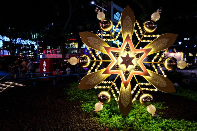 Singapore: Christmas Decorations are found all over in and around malls and city hubs in Singapore, with Christmas being highly commercialized. More Info