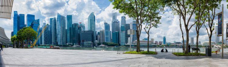 Singapore: A panoramic of the Singapore skyline. More Info