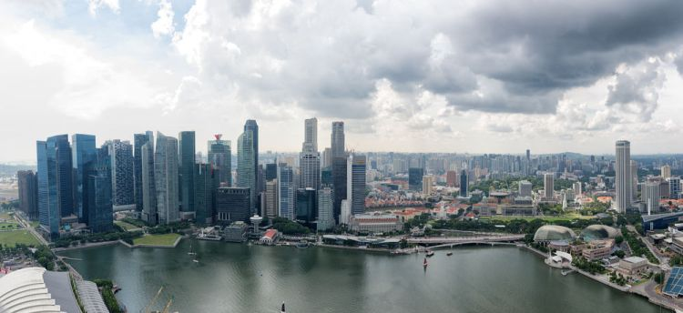 Singapore: A panoramic of the Singapore skyline. More Info