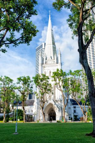 Singapore: A beautiful white church in the heart of Singapore More Info