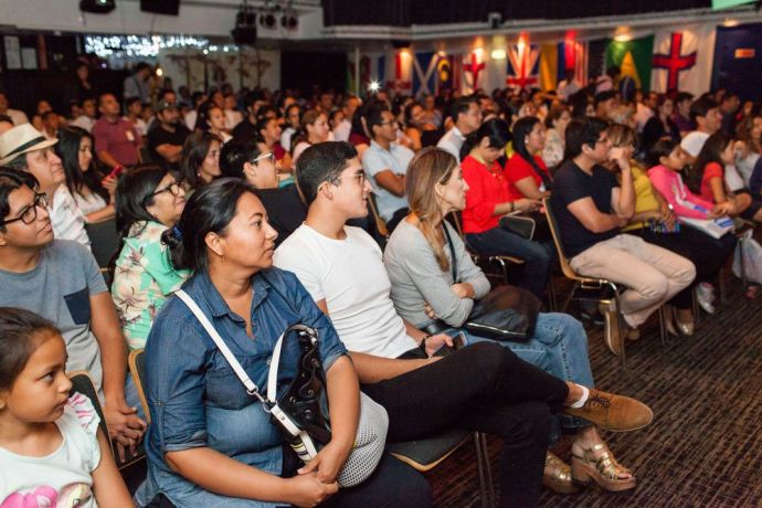 Ecuador: Guayaquil, Ecuador :: Visitors fill the Hope Theatre for an onboard event, Meet the World. More Info