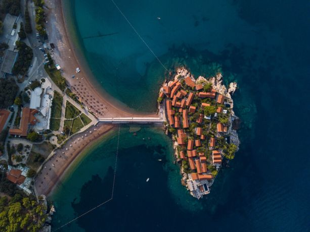 Montenegro: Aerial image of an exclusive resort in Montenegro.  Photo by Garrett N More Info