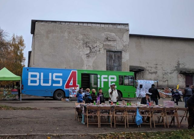 Ukraine: Over 70 children participated in the Bus4Life outreach in Ukraine. More Info