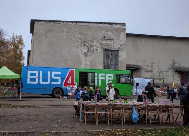Ukraine: Over 70 children participated in the Bus4Life outreach in Ukraine. More Info