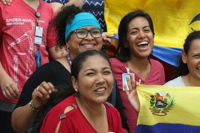 Ecuador: Guayaquil, Ecuador :: Latino crewmembers celebrate Christmas day together. More Info