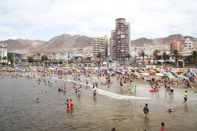 Chile: Antofagasta, Chile :: People enjoy spending time at the beach on their day off. More Info