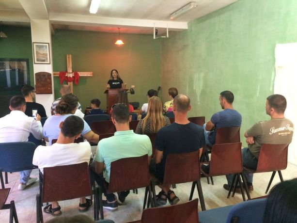 Albania: A participant of the travelling discipleship ministry (Journey to the North) shares her testimony in a local church in northern Albania. More Info