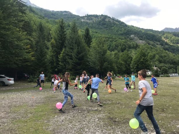 Albania: The travelling discipleship group (Journey to the North) leads kids games at a one-day event in mountainous northern Albania. More Info