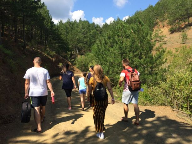 Albania: The travelling discipleship group (Journey to the North) on the road to lead a kids camp in mountainous northern Albania. More Info