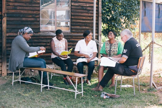 Zimbabwe: OMer leading a discipleship group More Info