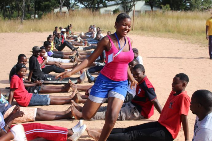 Zimbabwe: Young people on a Youth Camp participate in fun activities with meaning for their lives. More Info