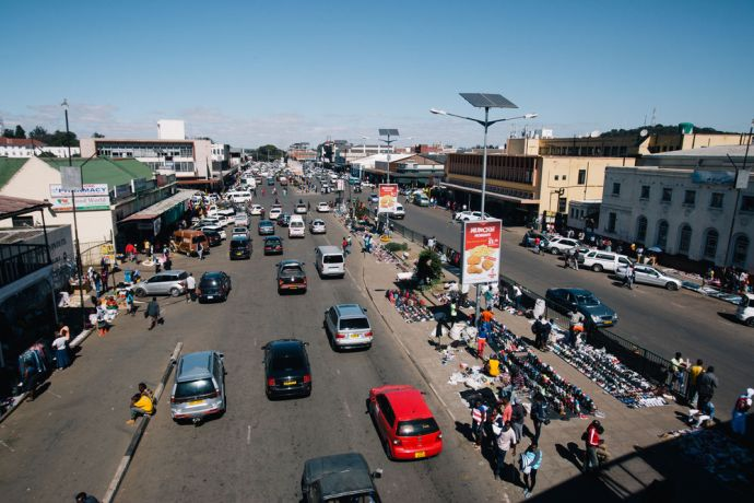 Zimbabwe: View of city center of Harare. More Info