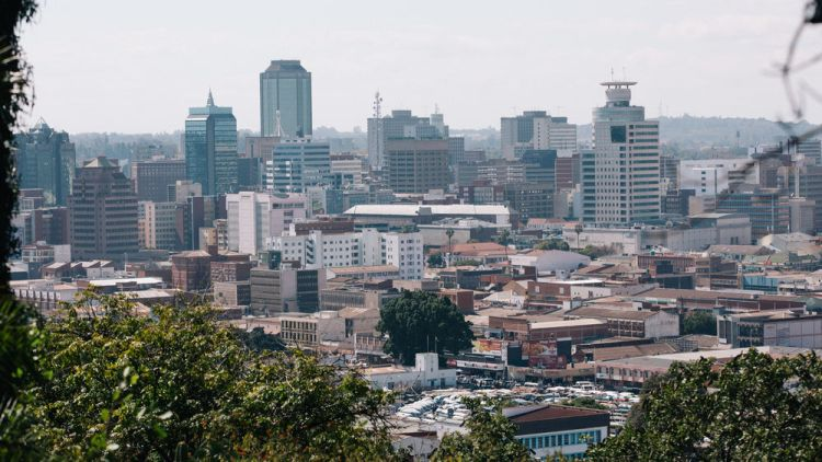 Zimbabwe: View of city of Harare. More Info