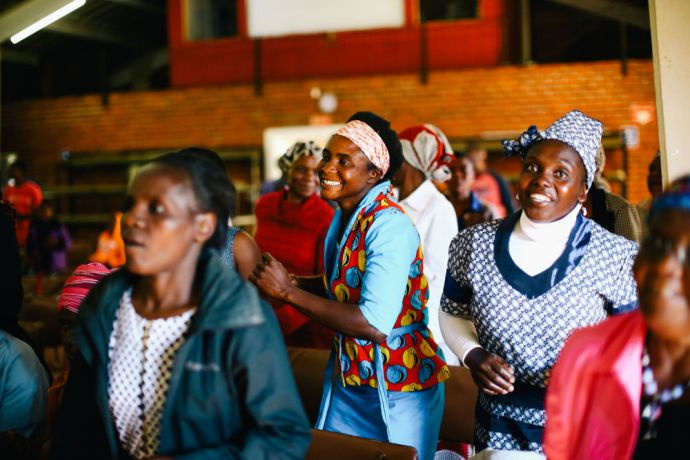 Zimbabwe: Local church member dance during the worship time. More Info