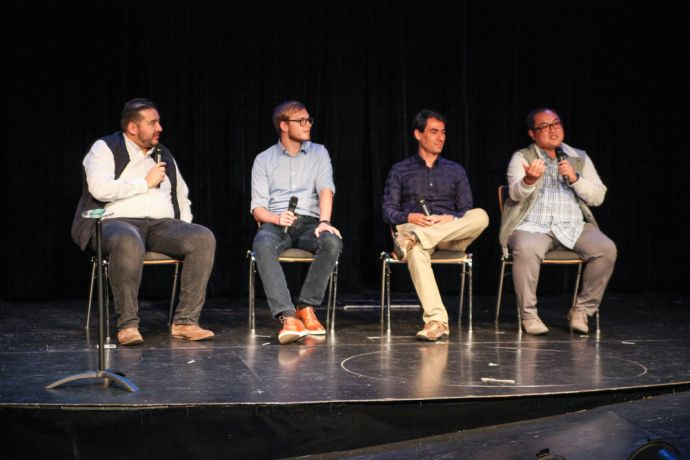 Chile: Valparaiso, Chile :: As part of a Scatter Global event, OM LAM Associate Area Leader JD Echeverri (Colombia) hosts a panel with Tim Rieger (Germany), Juan Nunez (Chile) and Steven Loh (Malaysia) to discuss the practicalities of using their profession in missions. More Info