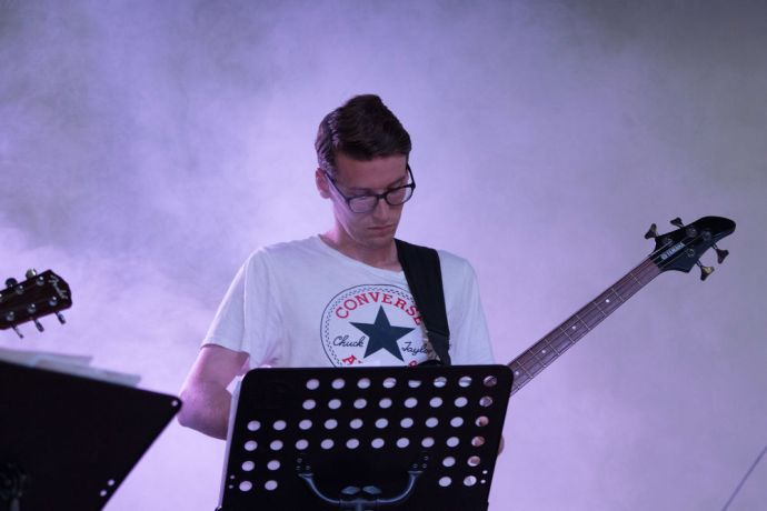 Chile: Isaac OShea (Ireland) play during a concert with Chilean artists. More Info