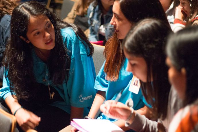 Chile: Lirquén, Chile :: A group of women discuss questions about missions during the Scatter Global conference on board Logos Hope. More Info