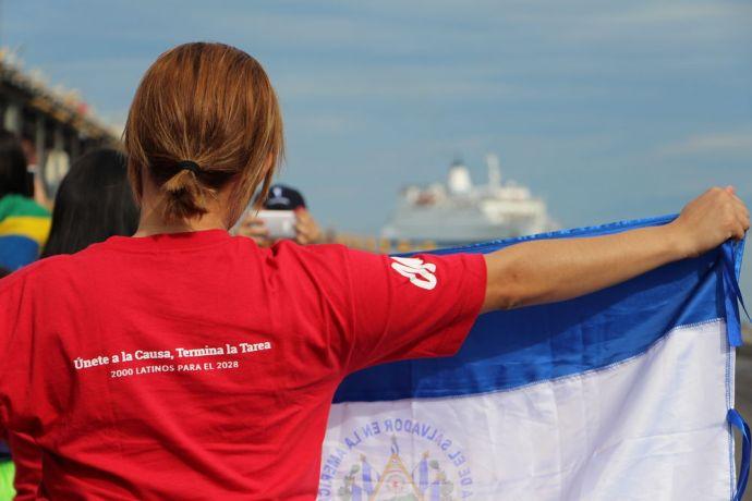 El Salvador: A OM staff member welcoming the Logos Hope to El Salvador More Info