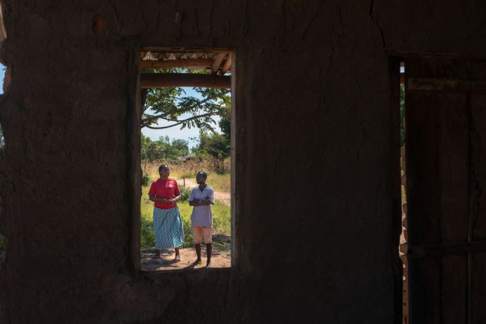 Malawi: The view from the window of a house that was severely damaged by Cyclone Idai in Malawi. Photo by Rebecca Rempel. More Info