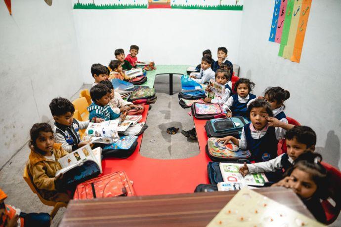 Pakistan: Brick kiln kids studying in OM Pakistan run school More Info