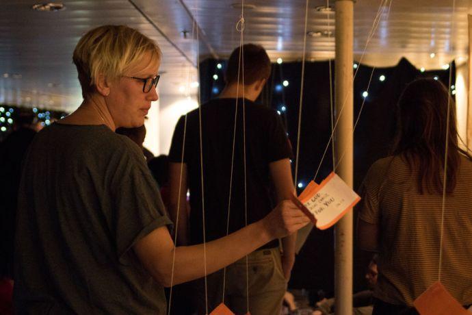 Uruguay: Montevideo, Uruguay :: Emma Andersson (Sweden) read a bible verse during prayer night. More Info