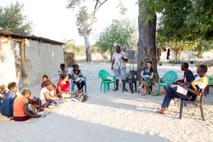Namibia: A Bible study in Katima, Namibia. Photo by Rebecca Rempel. More Info